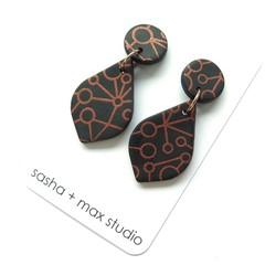 Winter metallics Statement Earrings - Genie Drop
