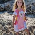 Girls Handmade Peasant Style Dress Size 5-6  Modern Vintage Patchwork Design