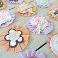 Crepe Paper Embellishments - Peach and Lavender