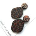 Winter metallics Statement Earrings - Freeform