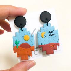 SIERRA - Mini Artwork Scenic Collection Dangles - Statement Earrings