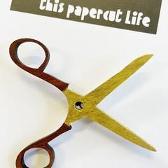 Jarrah Scissors brooch