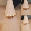 9k solid gold anxiety ring, Minimalist gold fidget ring, Worry ring