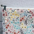Large Pouch/Clutch- Floral Corduroy