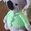 Handmade Crochet Koala Soft Toy, Koala Amigurumi, Soft Koala Toy
