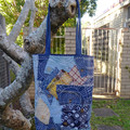 Boro Sashiko Hand Embroidered Tote Bag from Recycled Denim Stargazer