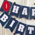 Australian Football Happy Birthday party banner. Sports, footy party.