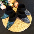 Hand knitted pixie boots