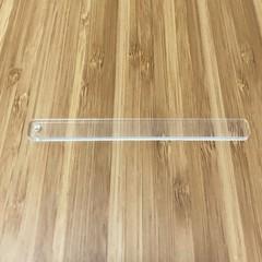 Earring try-on bar in clear acrylic -  100 x 10 x 3mm