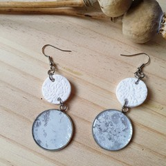 One of a Kind White Statement Earrings.