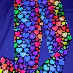 Hearts Leggings Sizes  3, 4, 5