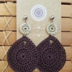 Teardrop Crochet Earrings