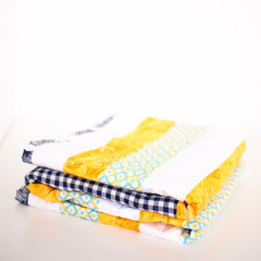 Cotton Quilt - Yellow and Blue - Small