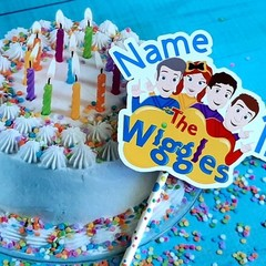 The Wiggles, Age and name  personalised Cake topper