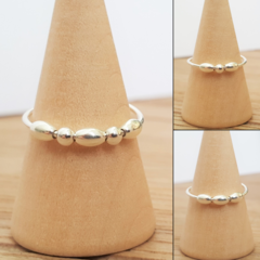 Sterling silver anxiety ring, Minimalist silver fidget ring, Worry ring