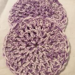 2 x Reusable Make-Up Wipes Crochet