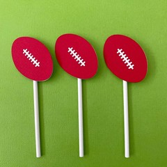 Football Cupcake Toppers . Footy Birthday party, baby shower, first birthday.