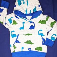 Dinosaur Fleece Hoodie Sizes: 0, 1, 2, 3, 4, 5