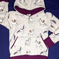 Unicorn Fleece Hoodie Sizes: 0 - 8