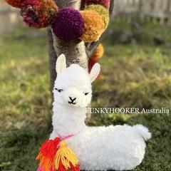 Llama Teddy Soft Cuddly Handmade Softie Crocheted Llama Teddy