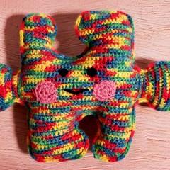 Puzzle piece kawaii cuddler - autism awareness
