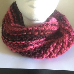 Hand Knitted Infinity Cowl Scarf