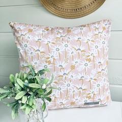 Pink Cushion/ Flowers/ Throw Pillow/ Australian/ Native Flowers/ Scatter Pillow