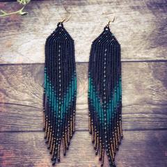 Long handmade drop earrings