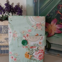 stylish convenient pale green floral nappy wallet gift