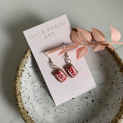 """Iced Vovo"" Arnott's Biscuit Handmade Drop Earrings"