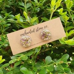 Sweet Alyssum Stud Earrings - Silver