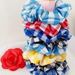 Handmade Gingham Scrunchies