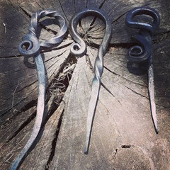 Hand Forged Iron Hairpin