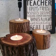 Recycled Tea Light Tree Holder