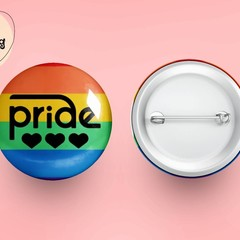 LGBTQIA Pride Button Badge Pin, Pin Badge, Metal Pin Button, Colourful Badge, Pr
