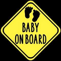 Baby On Board Decal - Premium Vinyl Car Decal - Baby On Board Sticker - Car Deca