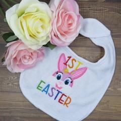 1st Easter Custom Embroidered Baby Bib