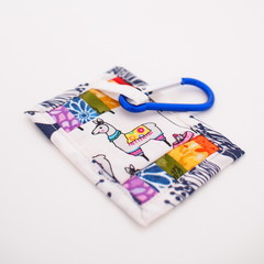 Mini-Quilt Bagtag/Keyring - Rainbow Llama