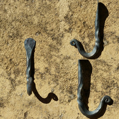 Blacksmithed Hooks