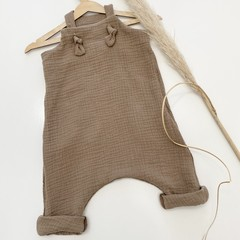 """Coco muslin """"Knot Overall""""you pick size(000-2-3)"""
