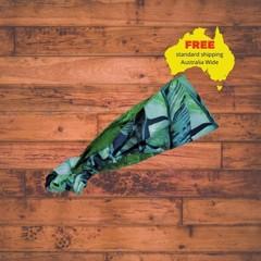 Vibrant Green Reversible Elasticated Fabric Heaband, Adult's Headband, Colourful