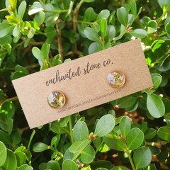 Gold Flofetti Stud Earrings - MINI Round