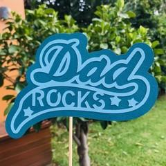 Dad Rocks - Blue Cake Topper