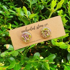 Sweet Alyssum Stud Earrings - Gold
