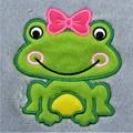 Personalized Girl Frog Baby Blanket