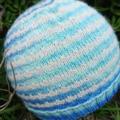 Small hat wool Blue aqua natural