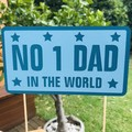 No.1 Dad in the World Cake Topper