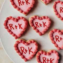 Retro Piped Sugar Cookies.