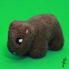 Wombat - Handmade Needle Felted Wool Animal
