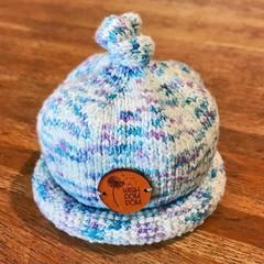Newborn Gumdrop Beanie - Blue/Purple